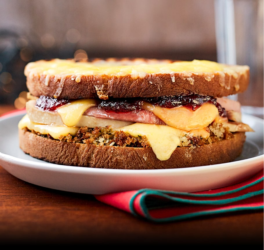 The Ultimate Leftovers Grilled Sandwich