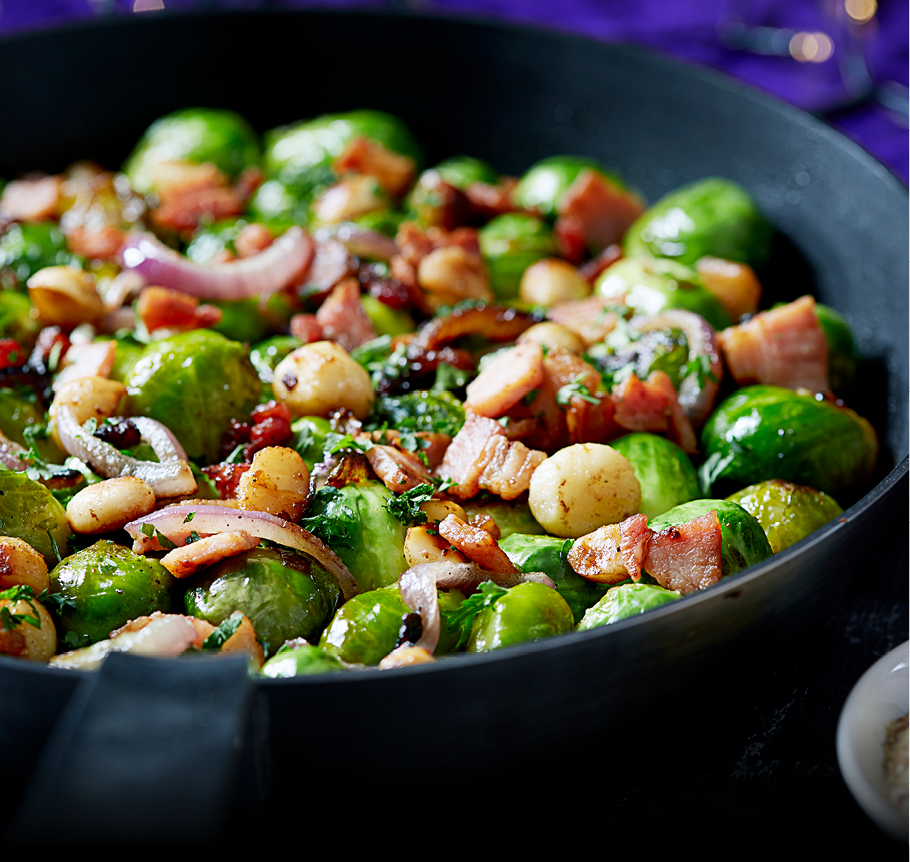 Dromona Buttery Bacon Sprouts